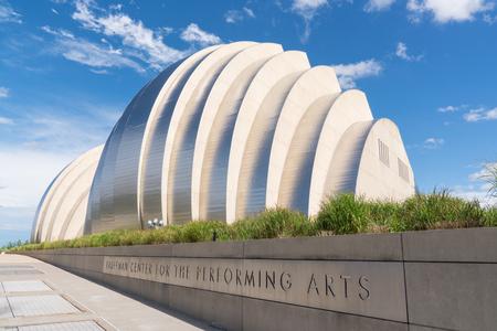 KANSAS CITY, MO - 20 JUIN 2018 : Kauffman Center for the Performing Arts à Kansas City a été achevé en 2011 et abrite le Kansas City Symphony Éditoriale