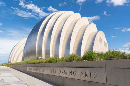 KANSAS CITY, MO - JUNE 20, 2018: Kauffman Center for the Performing Arts in Kansas City was completed in 2011 and is home to the Kansas City Symphony Redakční