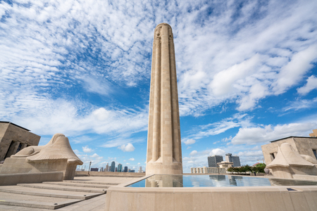 KANSAS CITY, MO - JUNE 20, 2018: Kansas City World War I Liberty Memorial and Museum constructed in 1926