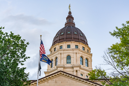 Dome of the Kansas State Capital Building in Topeka, Kansas