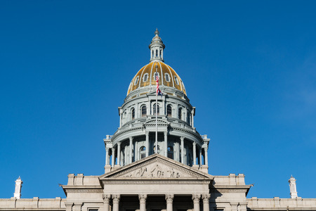 Dome of the Colorado State Capital Building in Denver, Colorado Stock Photo