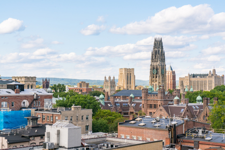 City skyline of New Haven, Connecticut
