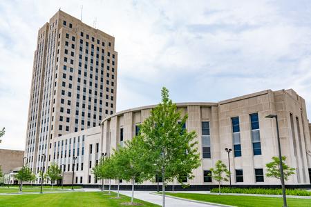 Edificio de la capital de Dakota del Norte en Bismarck, ND