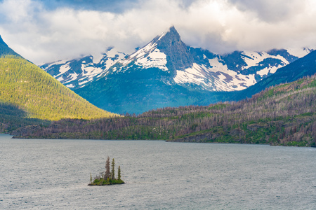 Wild Goose Island on St Mary Lake in Glacier National Park, Montana