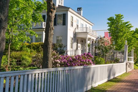 Historic Blaine House Governor's Mansion in Augusta, Maine 免版税图像