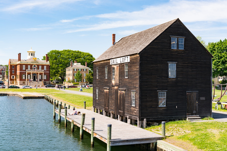 Salem, MA - June 8, 2019: Historic Pedrick Store House at the Salem Maritime National Historic Site