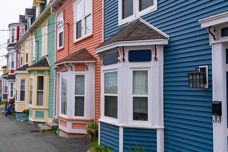 Colorful row homes of St Johns Newfoundland, Canada