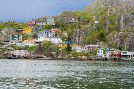 Colorful homes near the Battery of  St Johns Newfoundland