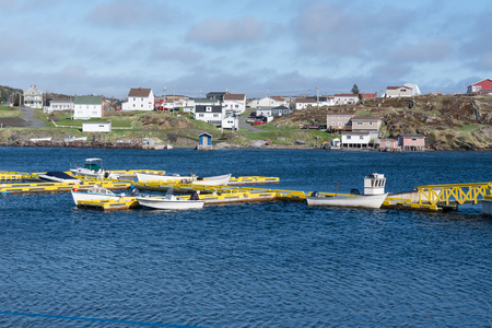 Boats in the harbor of the fishing village of Twillingate, Newfoundland, Canada Sajtókép