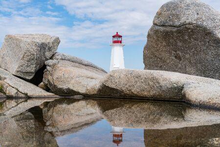 Peggy's Point Lighthouse near Peggy's Cove, Nova Scotia, Canada