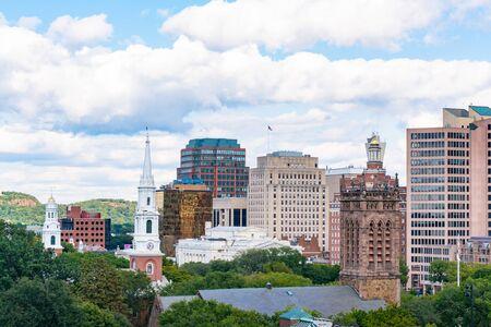 Églises et horizon de New Haven, Connecticut