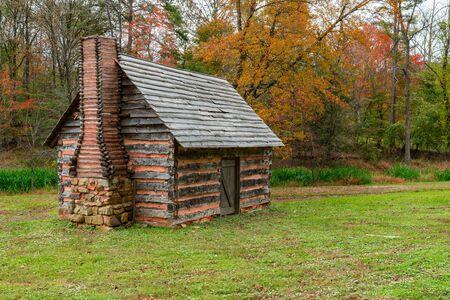 Appalachian Homestead Cabin in southern Virginia 스톡 콘텐츠