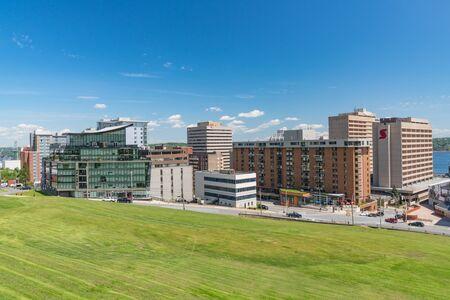 Halifax, Canada - June 19, 2019: City Skyline of Downtown Halifax, Nova Scotia, Canada from the Citadel