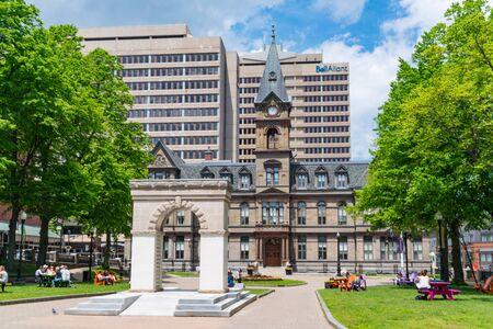 Halifax, Canada - June 19, 2019: Halifax City Hall building on the Grand Parade Square in Halifax, Nova Scotia, Canada
