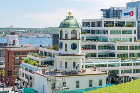 Halifax, Canada - June 19, 2019: Historic Halifax Town Clock tower located on the grounds of the Halifax Citadel