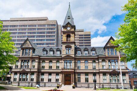 Halifax City Hall building on the Grand Parade Square in Halifax, Nova Scotia, Canada