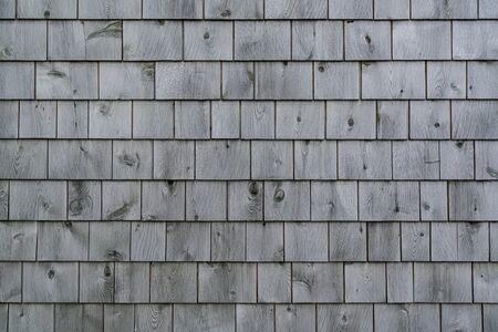 Exterior of a weathered gray cedar shingle wall Reklamní fotografie