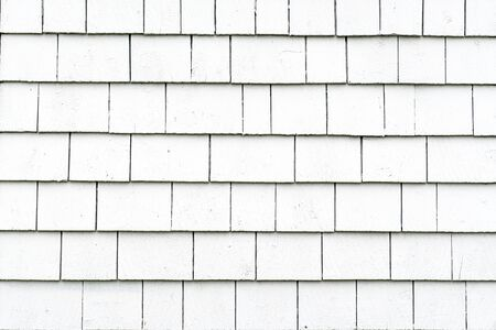 Exterior background wall with white cedar shingles