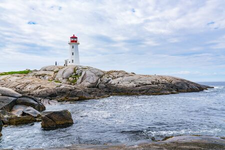 Peggy's Point Lighthouse near Peggy's Cove, Nova Scotia, Canada