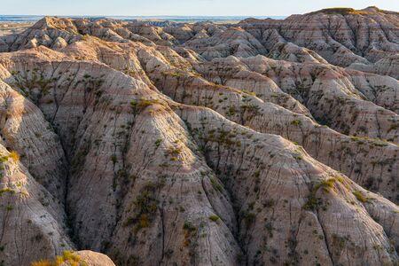 Badlands National Park landscape at Sunset in South Dakota 写真素材