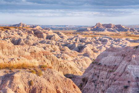 Badlands National Park landscape at Sunset in South Dakota Фото со стока