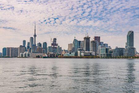 Daytime city skyline of Toronto, Ontario, Canada Фото со стока