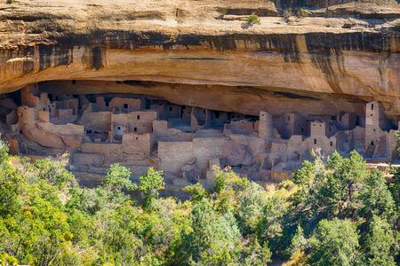 Cliff Palace dwellings in Mesa Verde National Park, Colorado