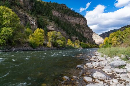 Colorado River in Glenwood Canyon, Colorado near Grizzly Creek