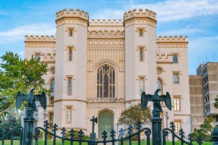 Antiguo edificio del Capitolio del Estado de Louisiana en Baton Rouge Foto de archivo