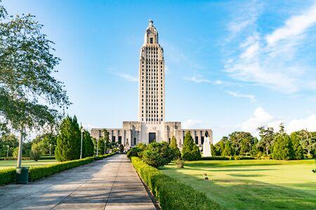 Edificio del Capitolio del Estado de Louisiana en Baton Rouge Foto de archivo