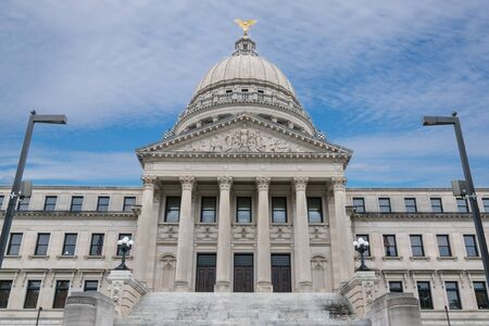 Exterior of the Mississippi State Capitol Building in Jackson Banco de Imagens - 144399645