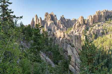 Needles stone formations in the Black Hills of South Dakota