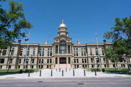 Exterior of the Wyoming State Capitol Building in Cheyenne