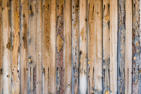 Old weathered vertical pine wood plank background
