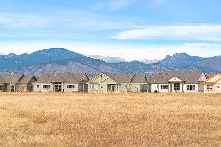 Loveland, CO - November 18, 2020: Homes in the community Dakota Glen in Loveland Colorado