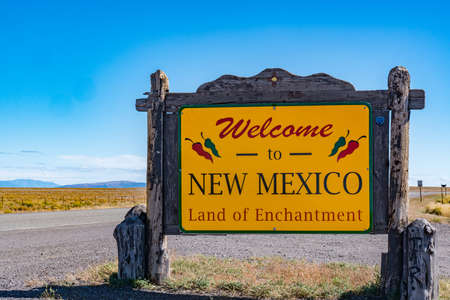 Welcome to New Mexico Sign near the Colorado - New Mexico state border
