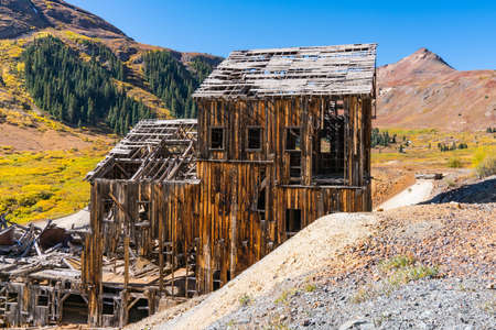 Old abandoned Animas Forks gold and silver mine in the San Juan Mountains of Colorado 新闻类图片