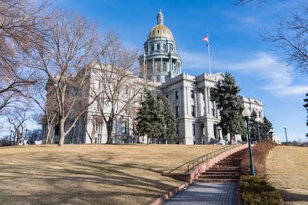 Exterior facade of the Colorado State Capitol building in Denver