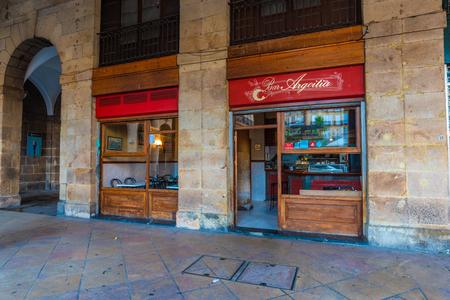 16/09-19, Bilbao, Spain. Outside part of the pintxos bar Argoitia on Plaza Nueva. Éditoriale