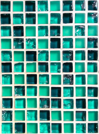 mosaic from ceramic and glass  green color photo
