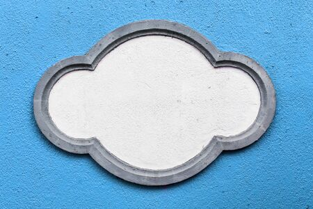 Word Box Frames on Blue Background photo