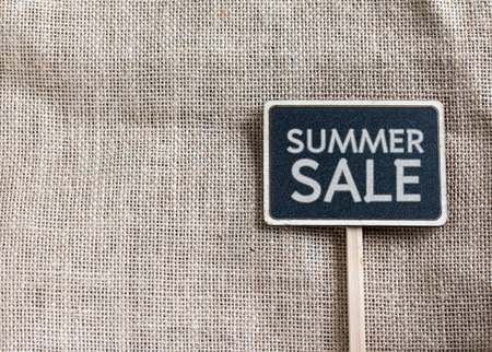 Summer sale drawing on blackboard