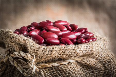 gunny: red kidney bean in gunny bag