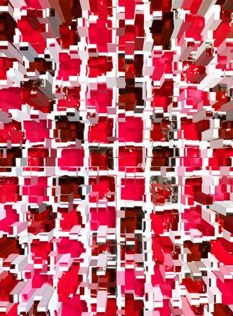 dimension: abstract red mosaic dimension background