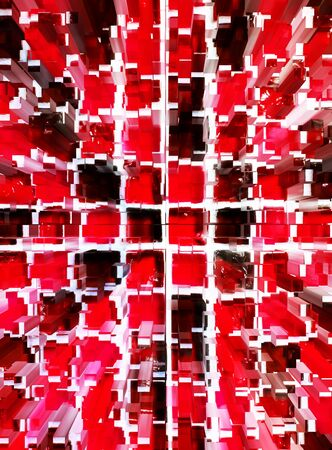 dimension: abstract red mosaic dimension zoom background