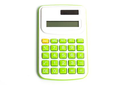 Green Calculator on White Background