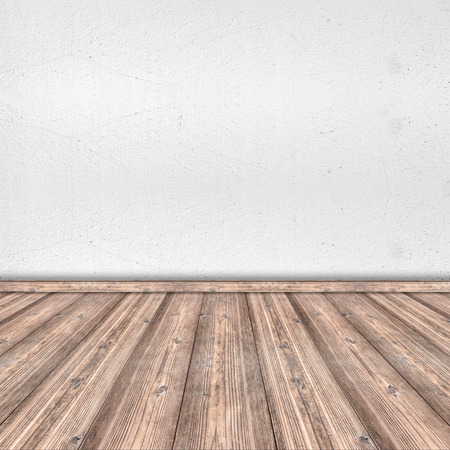 white wood floor: Wood Floor and White Cement Wall interior design - Wood texture background