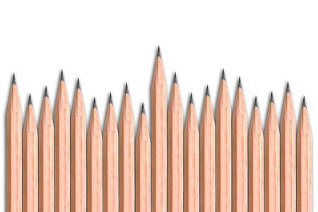 sharpen: Sharpen pencils on white background