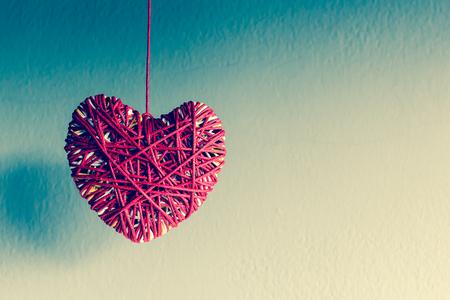 i hope: Red heart yarn , vintage tone