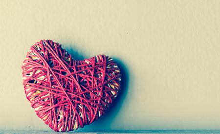 i love u: Red heart yarn , vintage tone